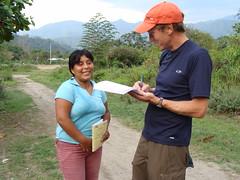 Randy interviewing Haydee Mallma Simbrón
