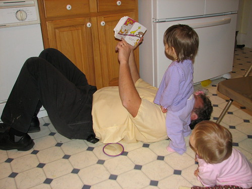 "Grandpa reads the ""Foot Book"""