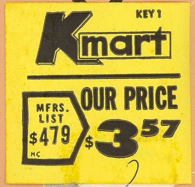 K Mart Record Album Price Sticker