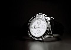 hand(0.0), mineral(0.0), watch(1.0), white(1.0), strap(1.0), monochrome photography(1.0), circle(1.0), monochrome(1.0), black-and-white(1.0), black(1.0),