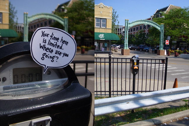 Parking Meter Talk: Chicago Lincoln Square archway