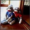 The Sock Monkeys have gone on a mini-vacation with our Mama.