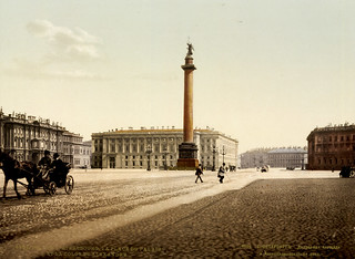 Winter Palace Place and Alexander's Column, St. Petersburg, Russia, ca. 1895