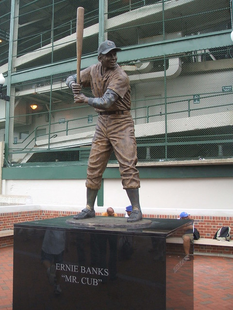 Ernie Banks Statue from Flickr via Wylio