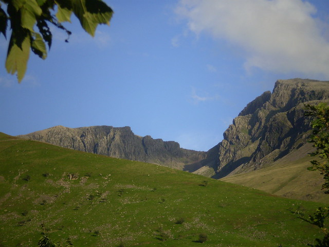 Scafell Pike and Sca Fell from Wasdale camp site