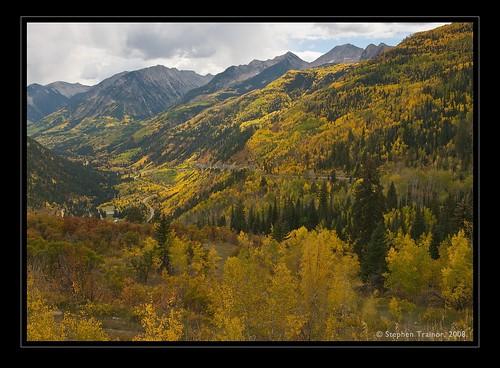 autumn trees usa fall colorado seasons aspen mcclurepass
