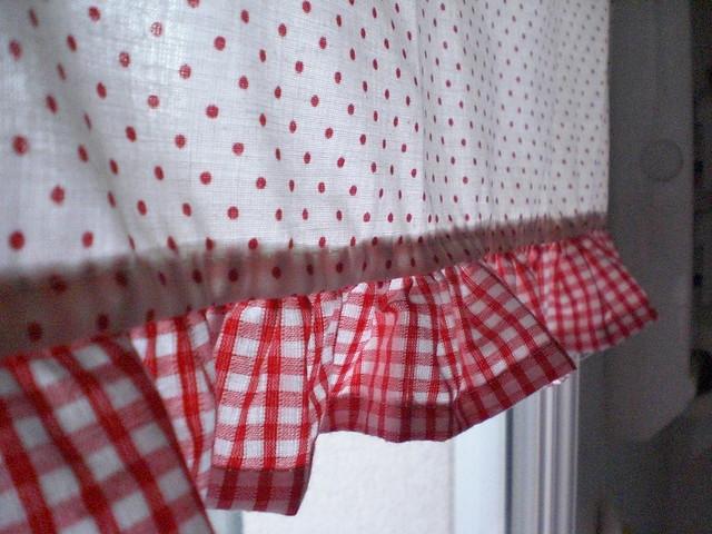 Red Gingham Kitchen Curtain Curtain Design