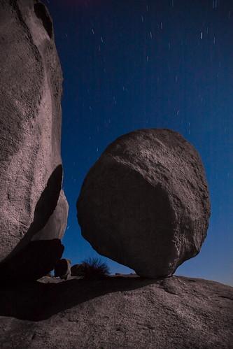 Balancing Rock at Night