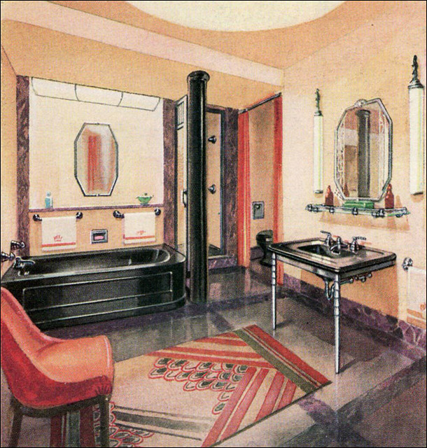1930s bathroom a gallery on flickr for 1930 s bathroom decor