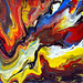 Explosive Abstract Painting
