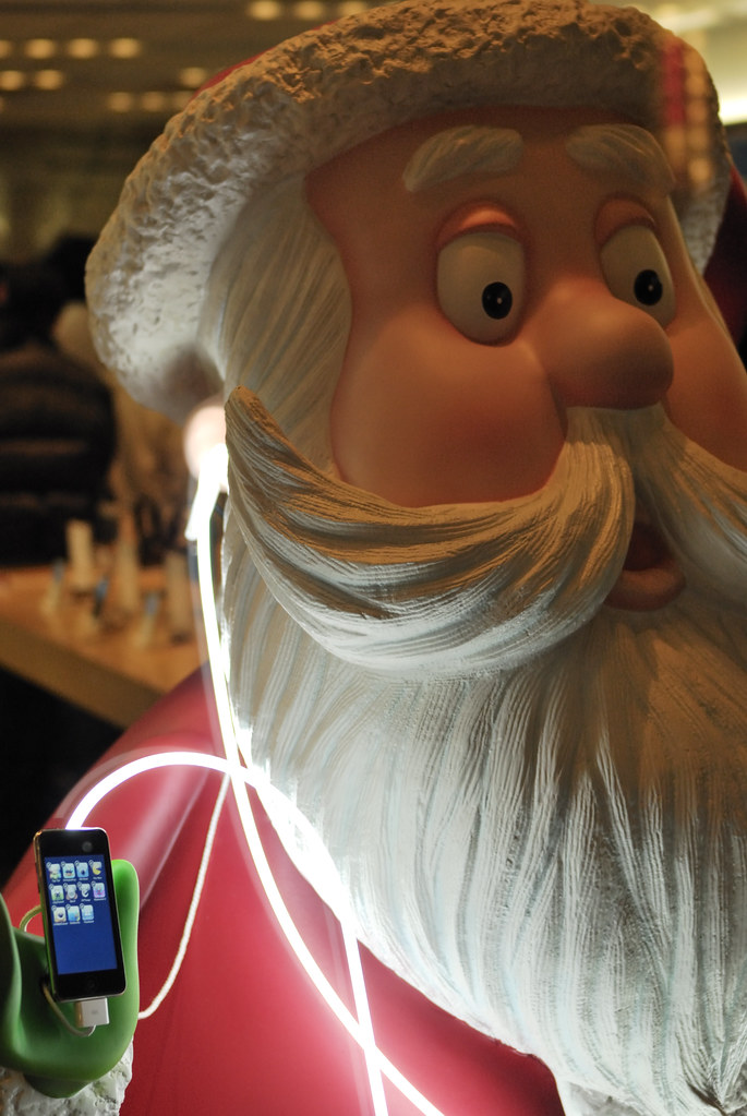 #342 santa at apple store shibuya