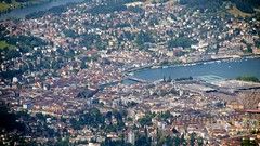 Luzern city center from Pilatus