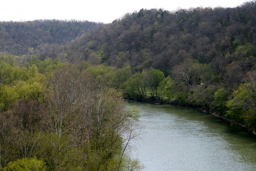 The Kentucky River, in spring