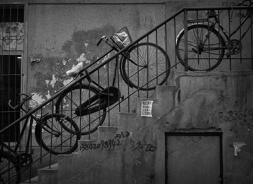 Bicycles in Staircase