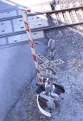 Railroad Crossing from above in Kansas City Mo