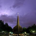 Lightning over Baptist Church