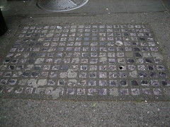 asphalt, cobblestone, manhole cover, road surface,