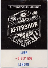 Luna backstage pass
