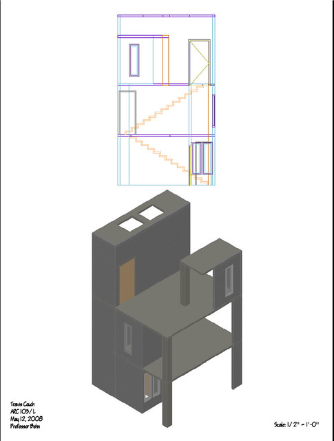 Plan And Elevation Of Cylinder : Isometric elevation