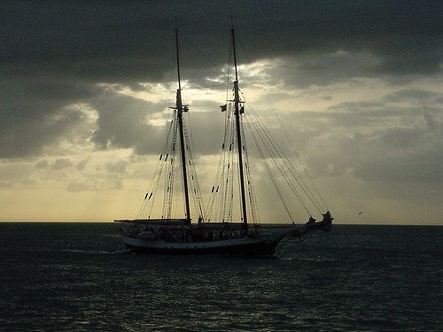 Ghost Ship at Sunset, Key West, FL