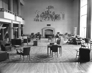 San Francisco, CA Presidio of San Francisco Enlisted Club lounge in 1949