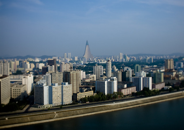 Pyongyang tilt shift North Korea