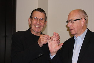 carl and leonard nimoy vulcan-ing