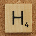 Wood Scrabble Tile H