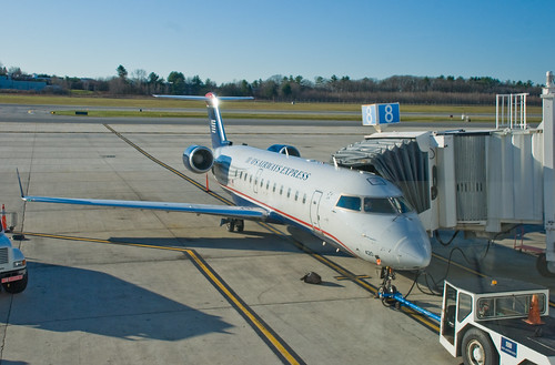 Air Wisconsin CRJ, Portland, Maine, 17 Nov. 2008