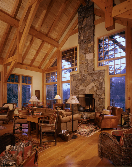 Cathedral Mountain Lodge Great Room Flickr Photo