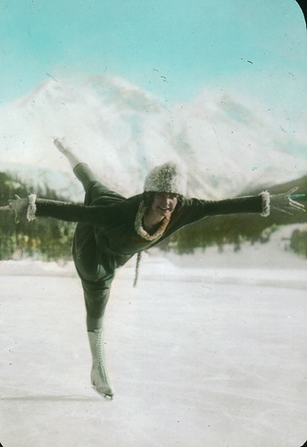 Figure skating, Banff, AB, about 1935
