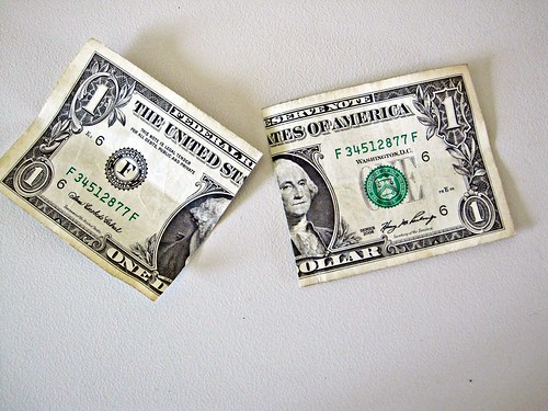 Dollar Bill Cut in Half