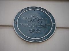 Photo of Dorothy Nevill green plaque