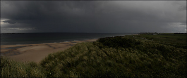 A dark afternoon in Bamburgh