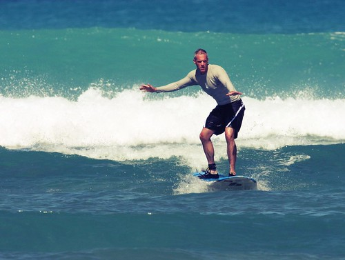Colin on Surf Board - 2