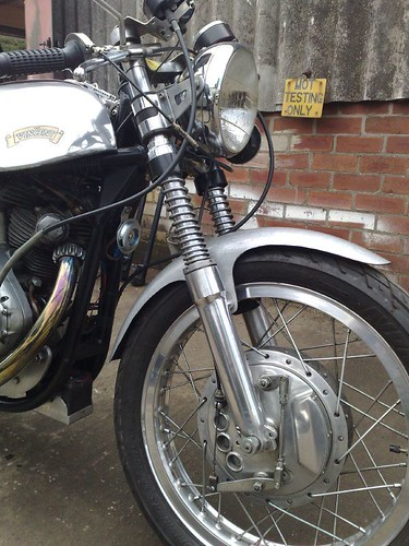 Norvin. Vincent engine in Norton frame
