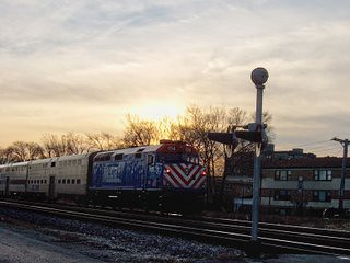 Eastbound Metra morning commuter local passing through Elmwood Park Illinois. January 2007. by Eddie from Chicago