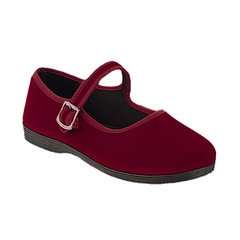 outdoor shoe(0.0), textile(0.0), leather(0.0), skate shoe(0.0), athletic shoe(0.0), magenta(1.0), footwear(1.0), shoe(1.0), maroon(1.0), slip-on shoe(1.0), suede(1.0),