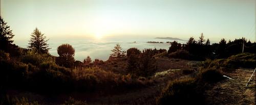 sunset panorama sun film fog skyline 35mm fuji horizon ridge 202 sensia sanmateocoast