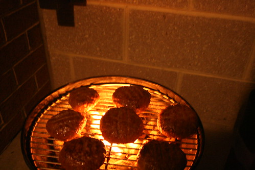 Bomble Burgers on the Grill