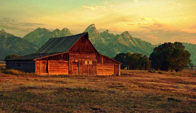 Morning Light and Color at Moulton Barn