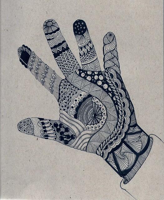Zentangle Hands - a ga...