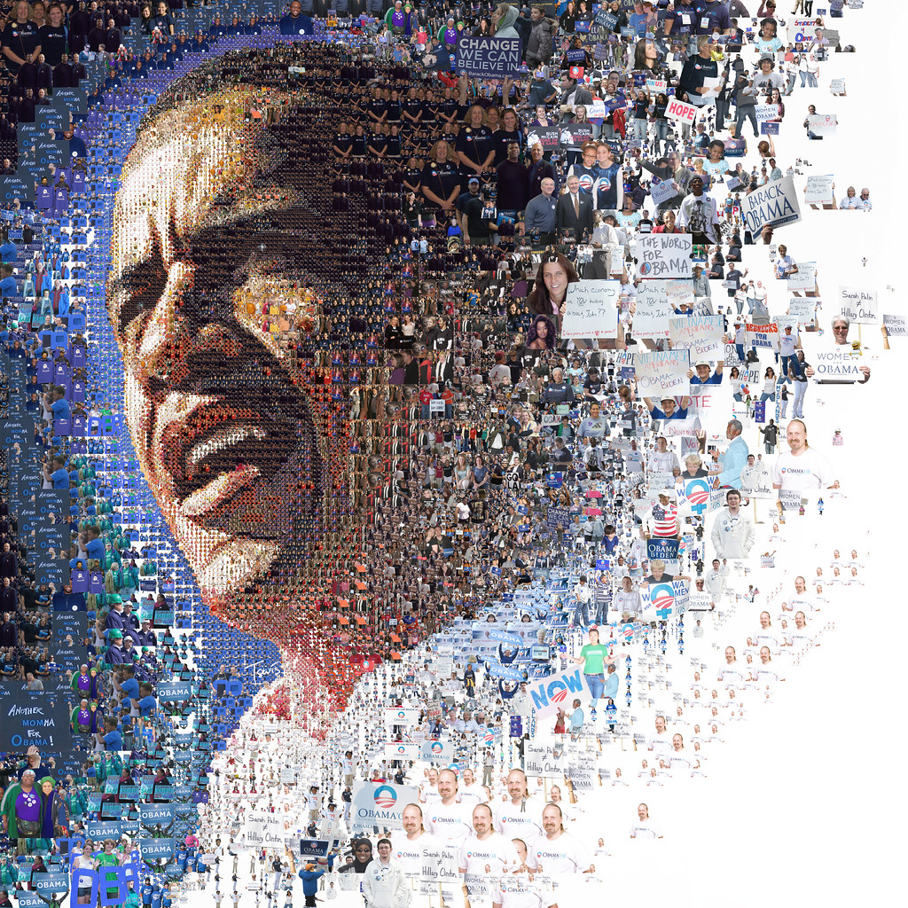 The World for Barack Obama (Mosaic Illustration)