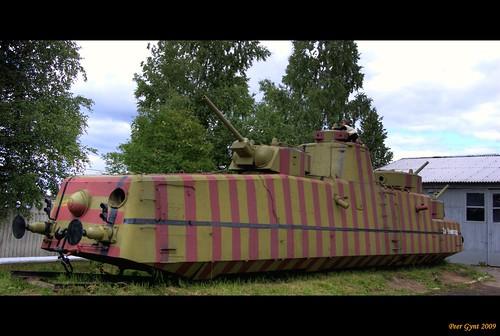 Soviet Armoured Rail-Cruiser MBV-2 Stremitelniy. Leningrad front. 1942.