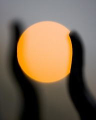 holding the bokeh sun