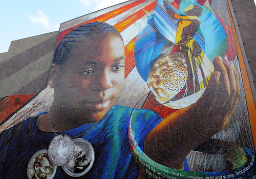 From the worlds of visible and invisible light for Dr j mural philadelphia