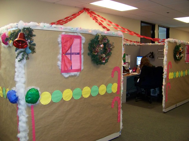 Winter Wonderland Classroom Door Decorations ~ Gingerbread cubicle flickr photo sharing