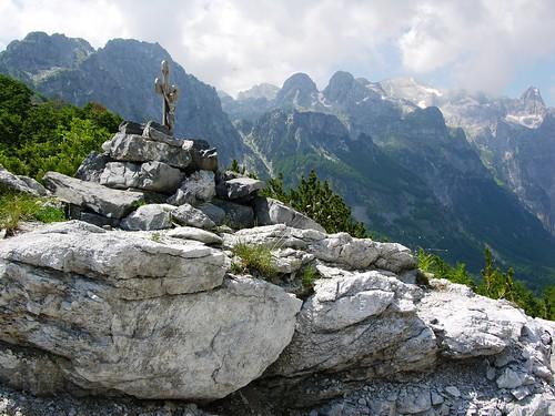Edith Durham Monument, near Thethi Pass, Albania