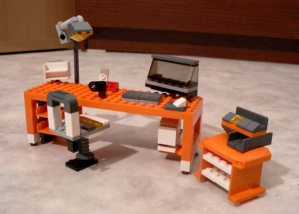 Lego 7991 Alternate Moc Office Desk A Photo On Flickriver