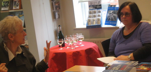 Sara Paretsky, wine and the witch